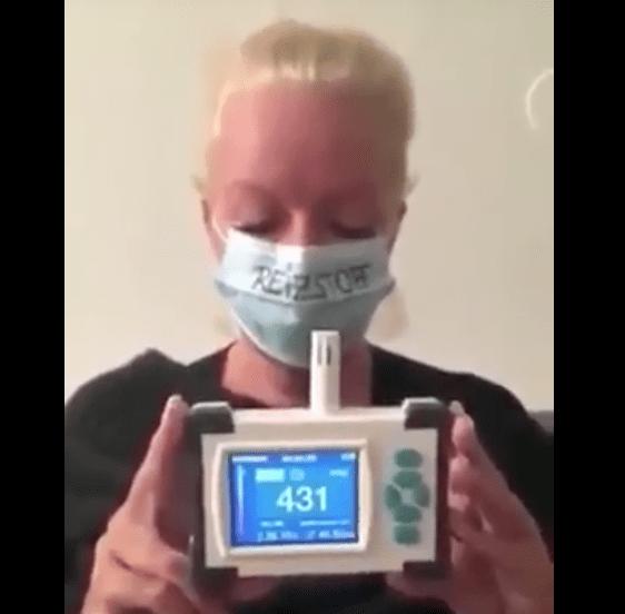 Maske Altında Karbondioksit Ölçümü